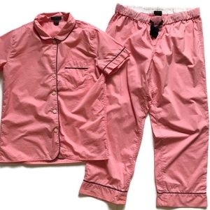 JCREW Vintage Pajama Set Small Pink Short Sleeve